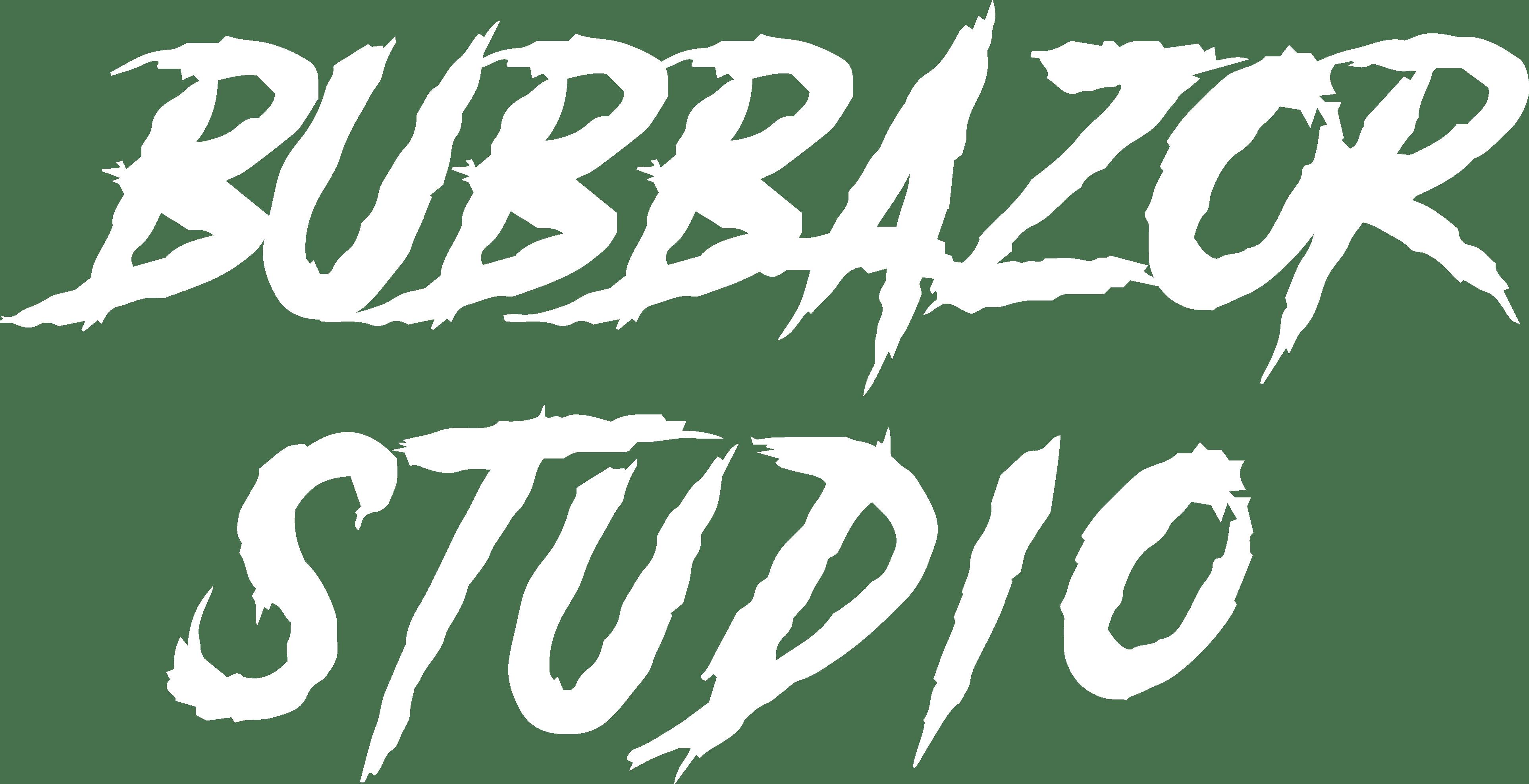 Bubbazor studio írott logo